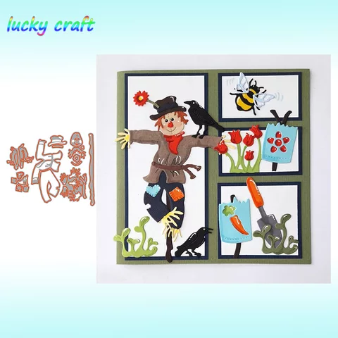 Scarecrow Cutting Dies Stencil DIY Scrapbooking Embossing Paper Cards Making