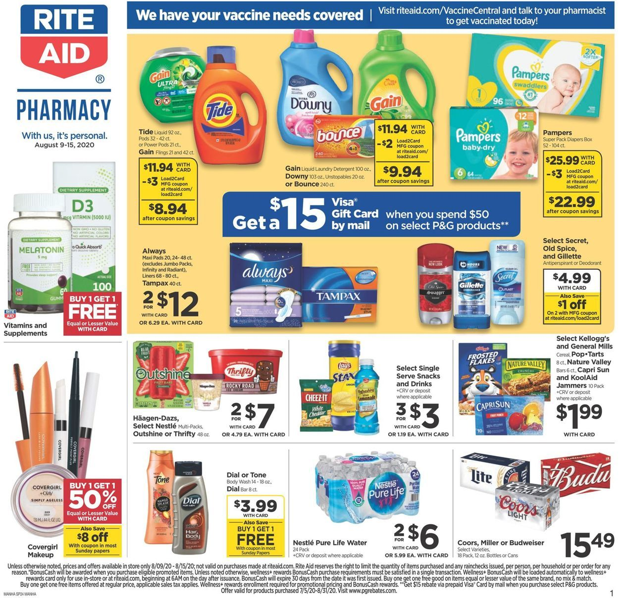 Rite Aid Weekly Ad Aug 9 15 2020 Online Coupons Codes Online Coupons Weekly Ads