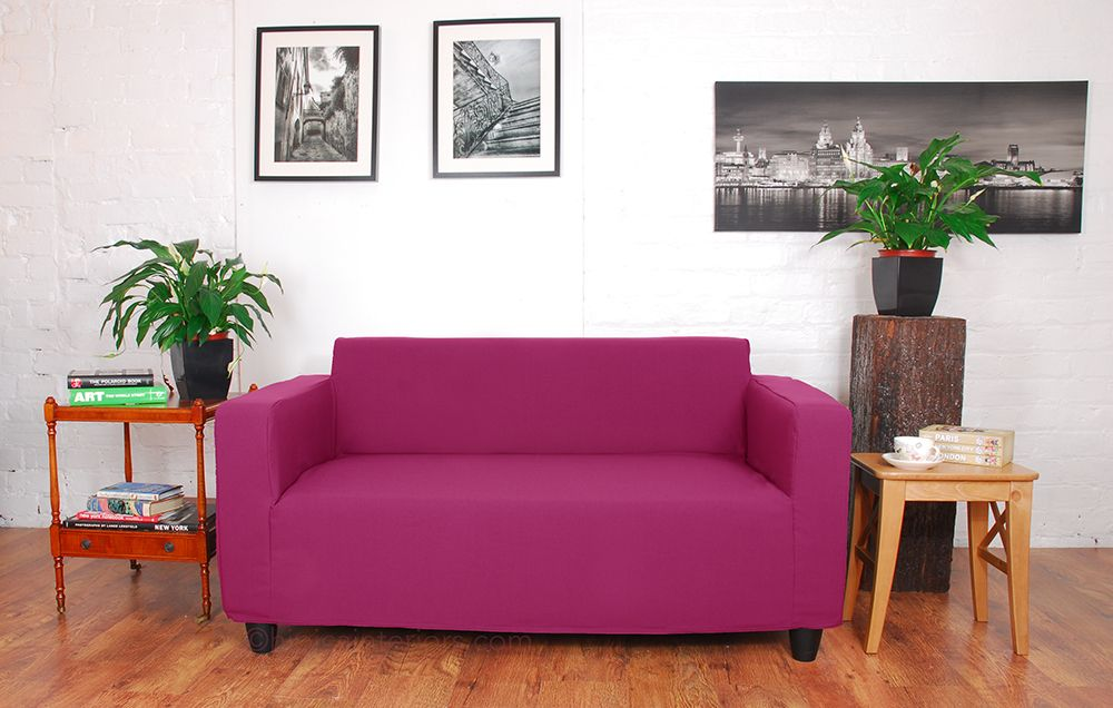 Cerise Pink Easy Fit Klobo Cover Slipcovers Sofa Covers Ikea Loveseat
