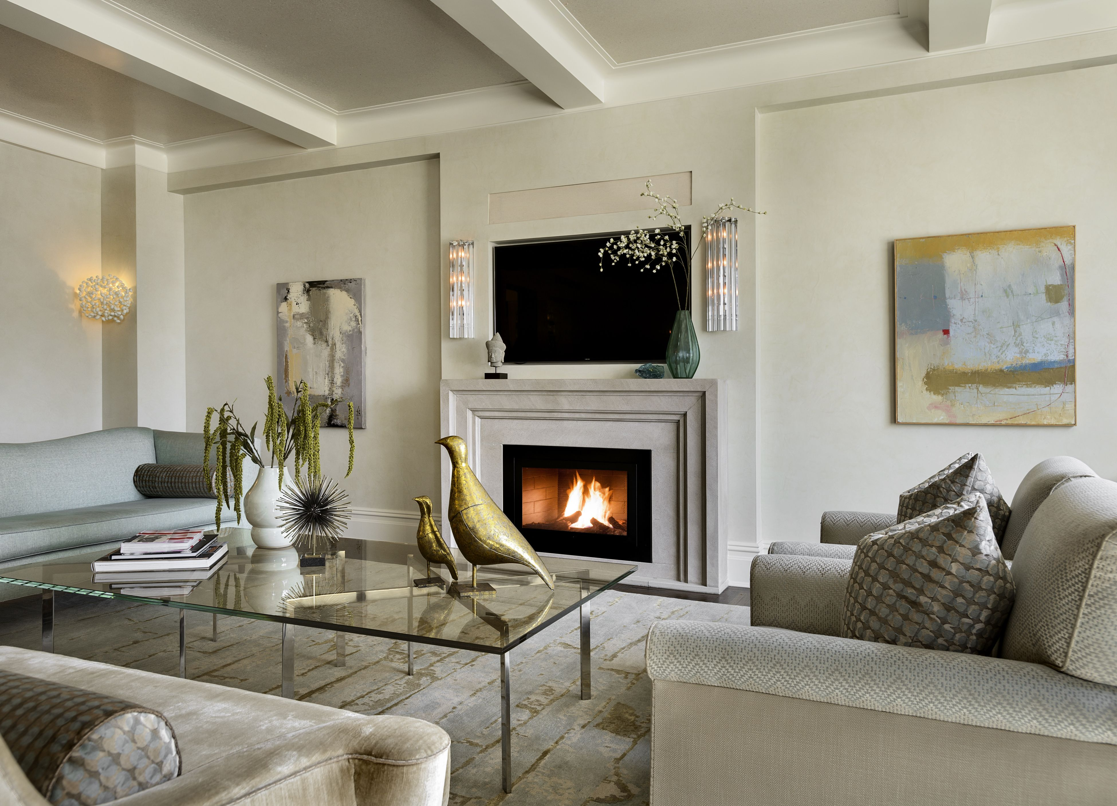 Brighten Your Day With This Lovely Nyc Living Room Complete With
