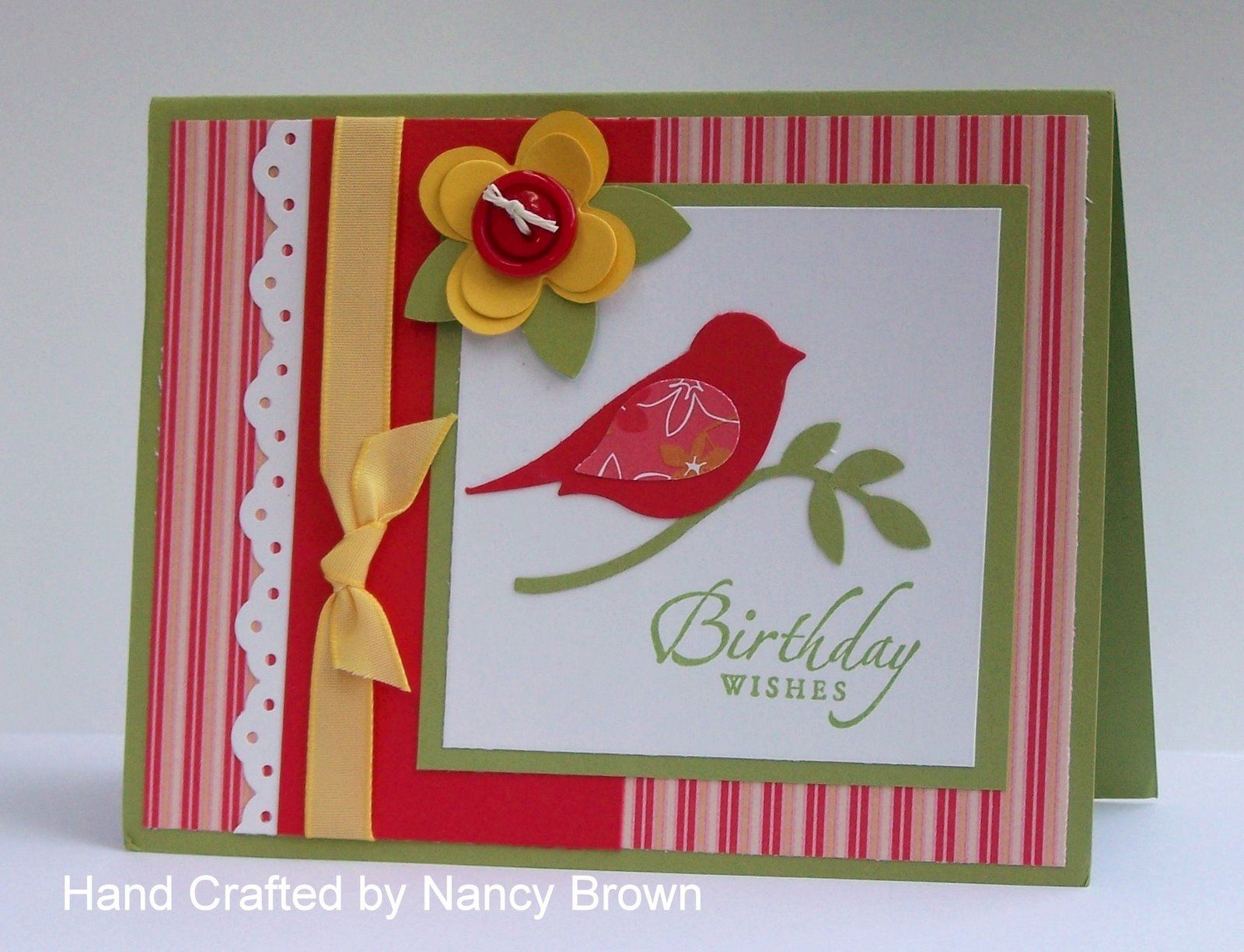 Handmade card using the Wonderfall stamp set from Stampin Up