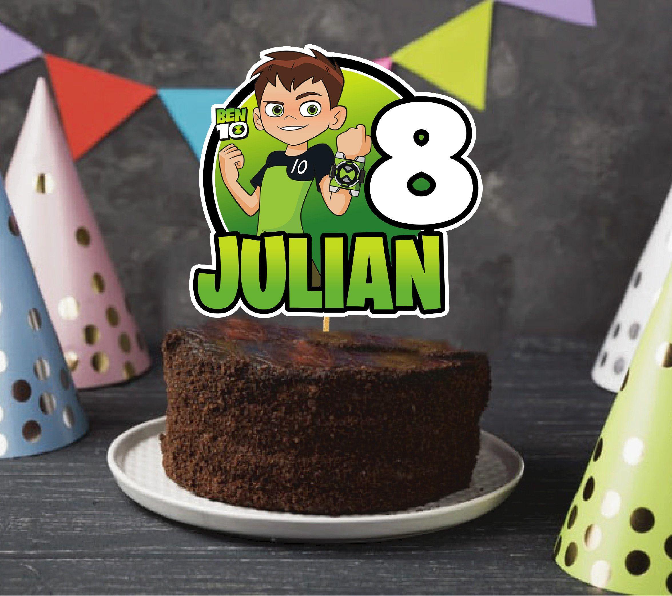 Ben 10 Cake Topper Birthday Party Digital File In