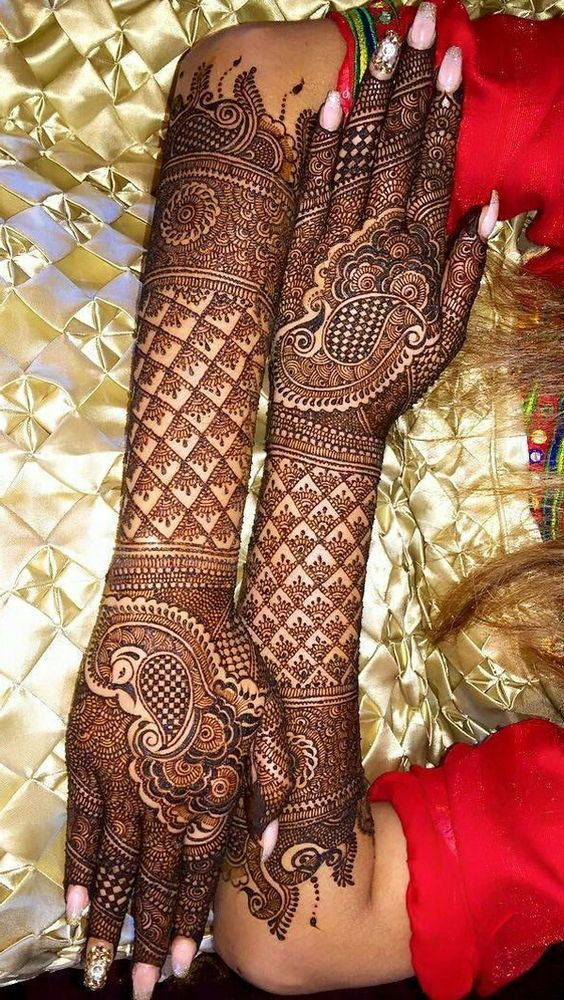Full Arm Bridal Mehndi Designs For Full Hands And Legs