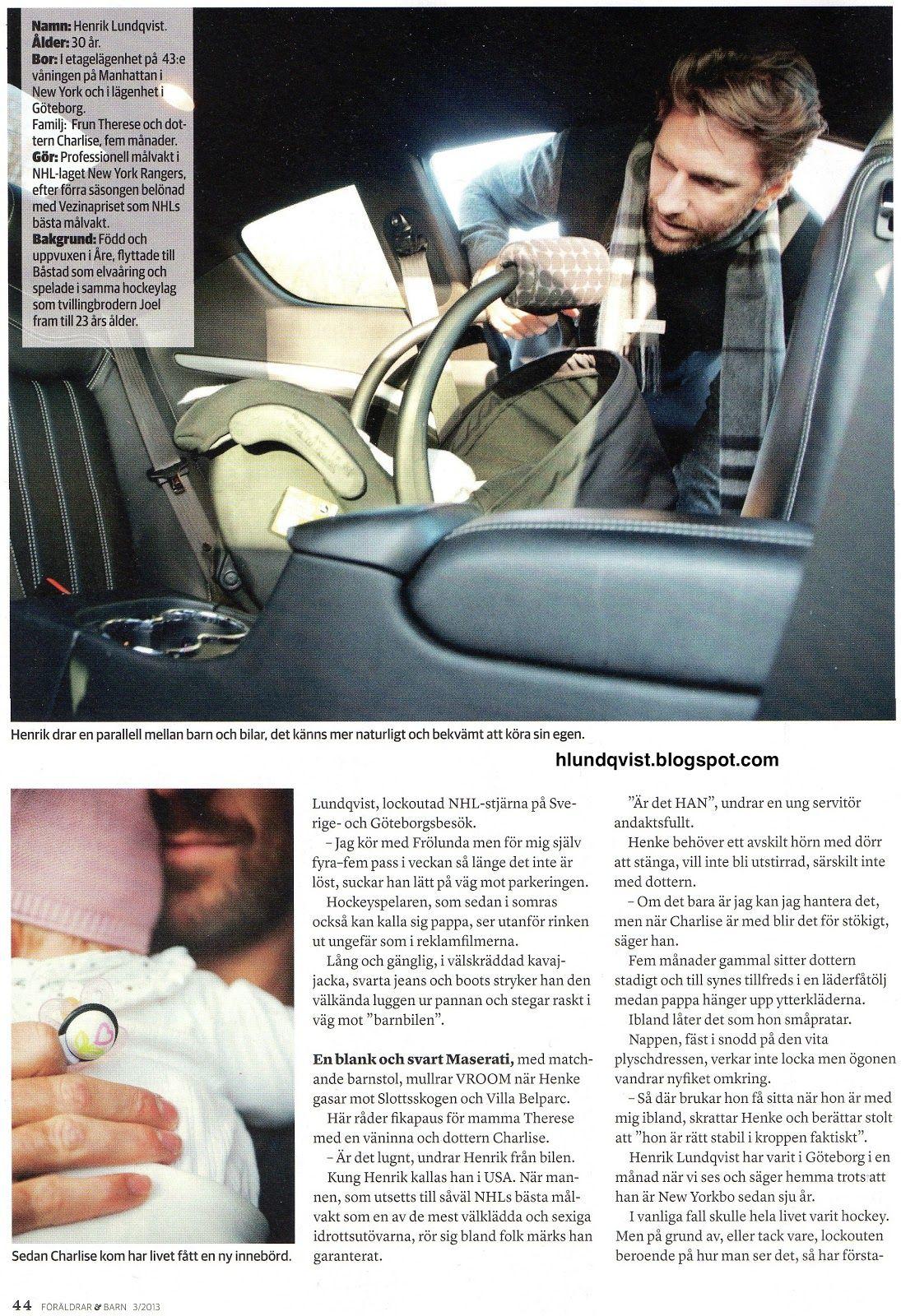 Henrik And Charlise Lundqvist Featured In Swedish Magazine Foraldrar