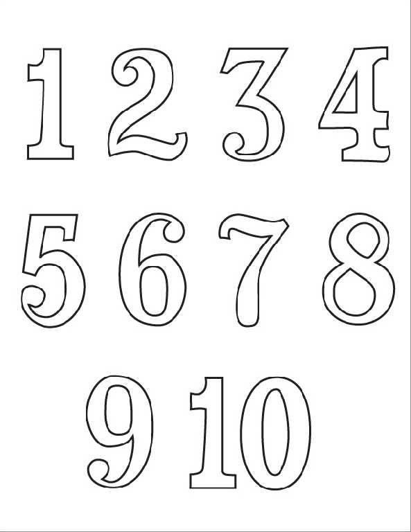 Numeros em ingles - Numbers 1 10 Coloring Pages | aula | Pinterest ...