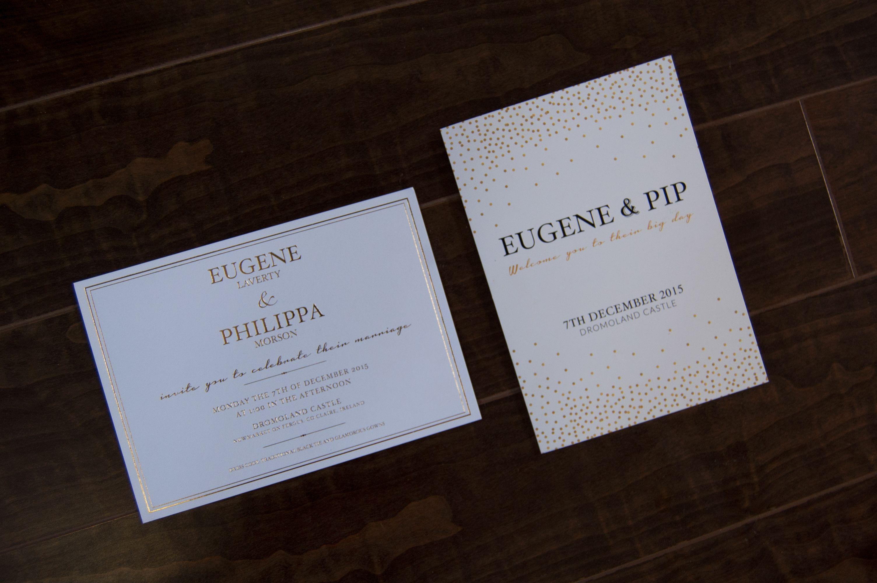 Gold foil wedding stationery | Kaizen Wedding Stationery | Pinterest ...