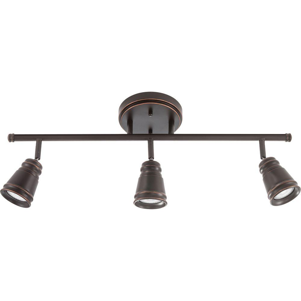 Led Track Light Fixture: Lithonia Lighting Pepper Mill 3-Light Oil Rubbed Bronze