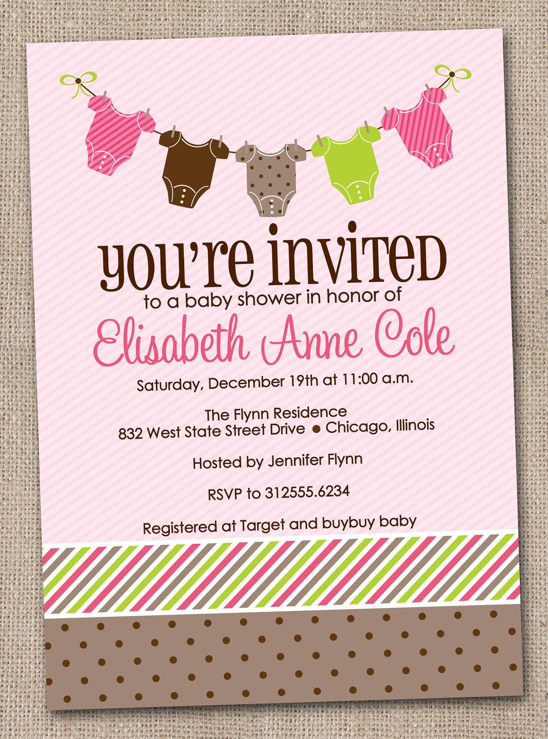 baby shower invitations for girls | Printable Baby Shower ...
