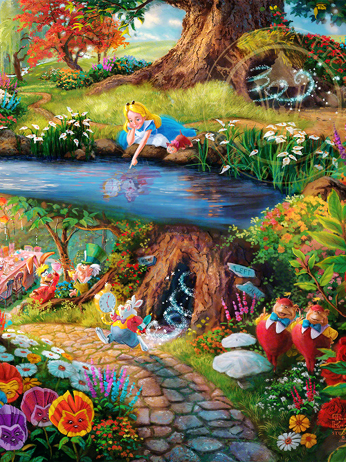 ALICE IN WONDERLAND BY THOMAS KINKADE