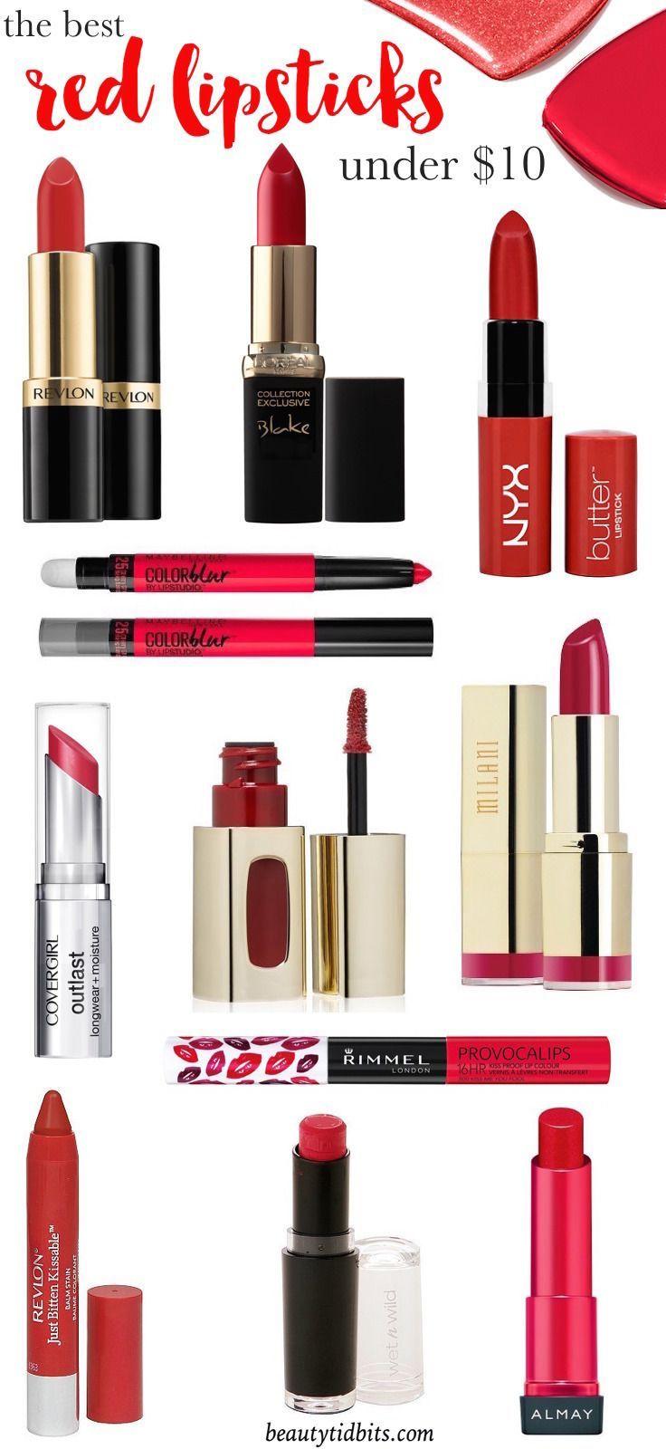 Best Drugstore Red Lipsticks under $10 | Lipsticks, Or and 10.