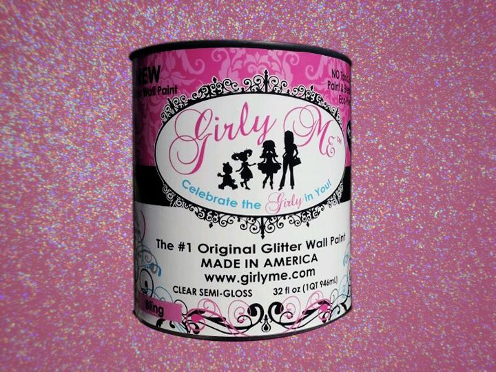 Pink Glitter Paint Bling Glitter Wall Paint No Voc