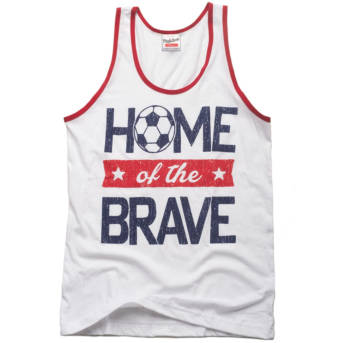 GOAL! Don't be shy about representing our country during the World Cup. This vintage tank is a must have for the summer