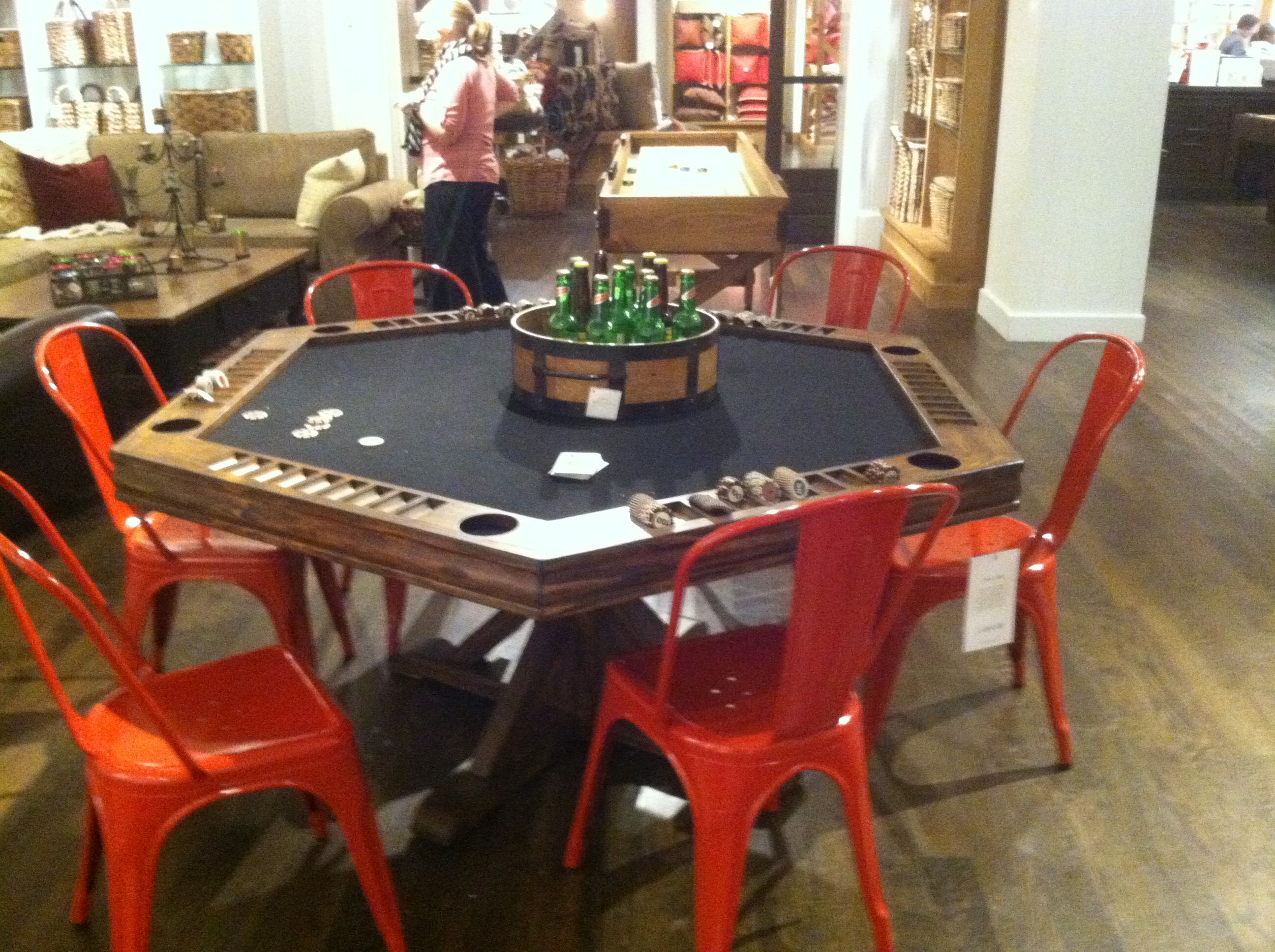 pottery barn poker table man cave pinterest poker