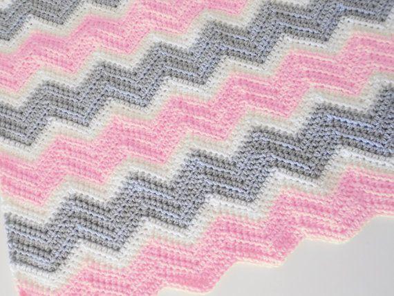 PDF Pattern for Chevron Baby Blanket | Cobija, Manta y Cobijas para bebe
