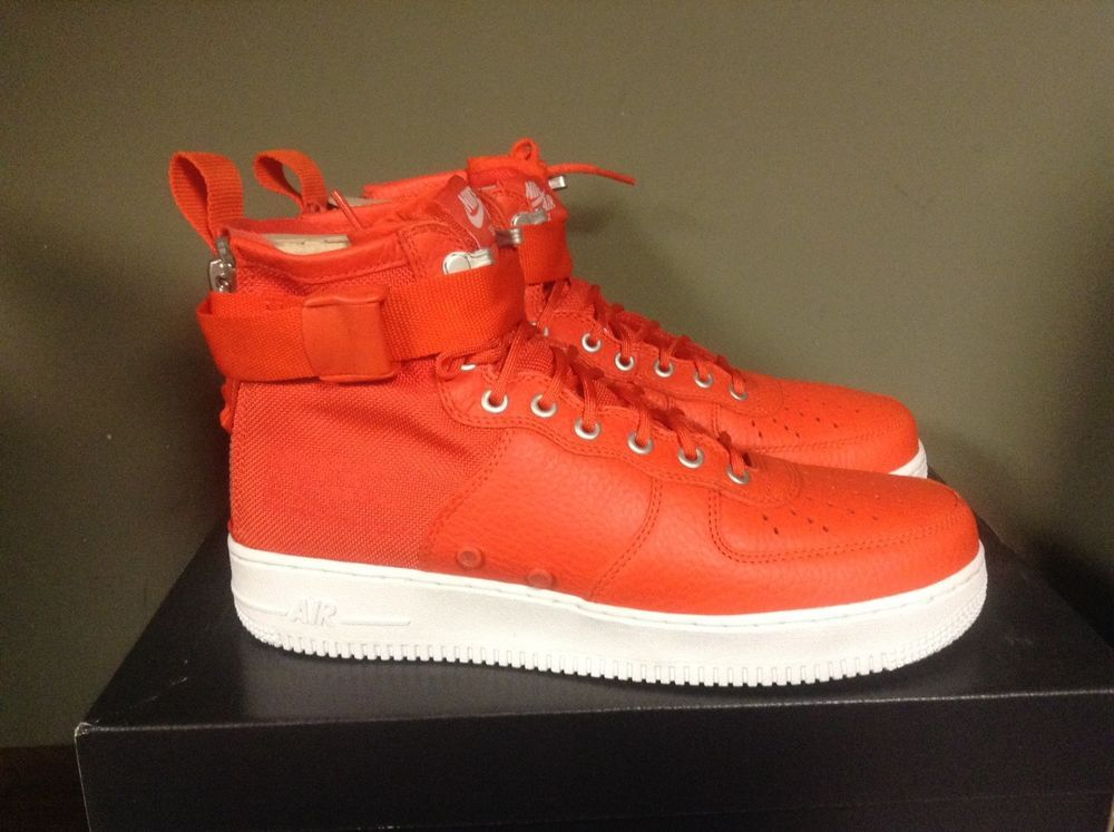 f9ef3a50 Nike SF AF1 Mid Special Field Air Force 1 Team Orange Men Sneakers 917753- 800 #nike #AthleticSneakers