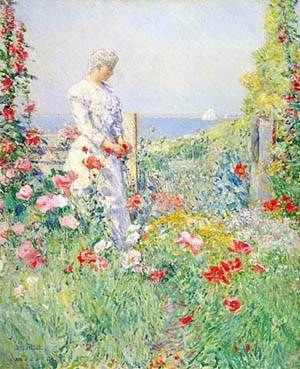 Celia Thaxter In Her Garden 1892 by Childe Hassam (American)