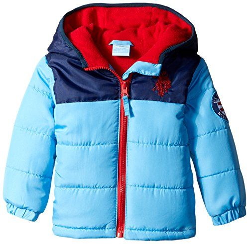f9131f056 US Polo Association BabyBoys Infant Heavy Weight Color Block Puffer ...