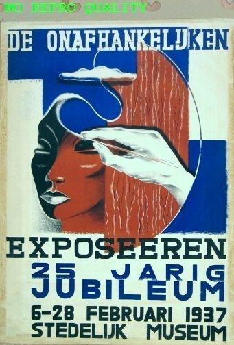 De Onafhankelijken exposeeren (25 jaar jubileum) - by Wim Bosma - at Stedelijk Museum Amsterdam