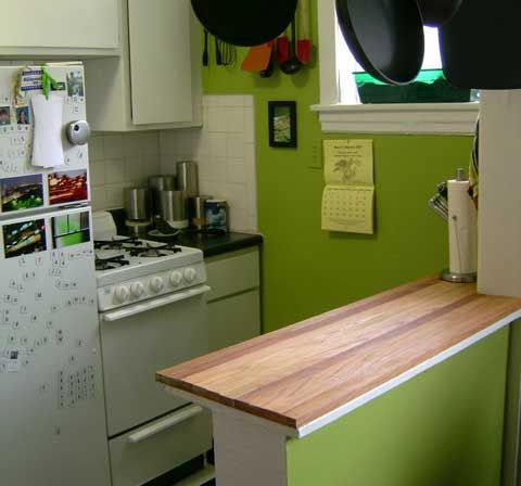 plywood kitchen countertops - Small Kitchen Counters