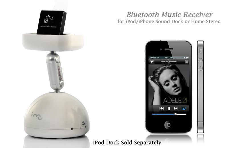Bluetooth Music Receiver for iPod/iPhone Sound Dock or Home Stereo