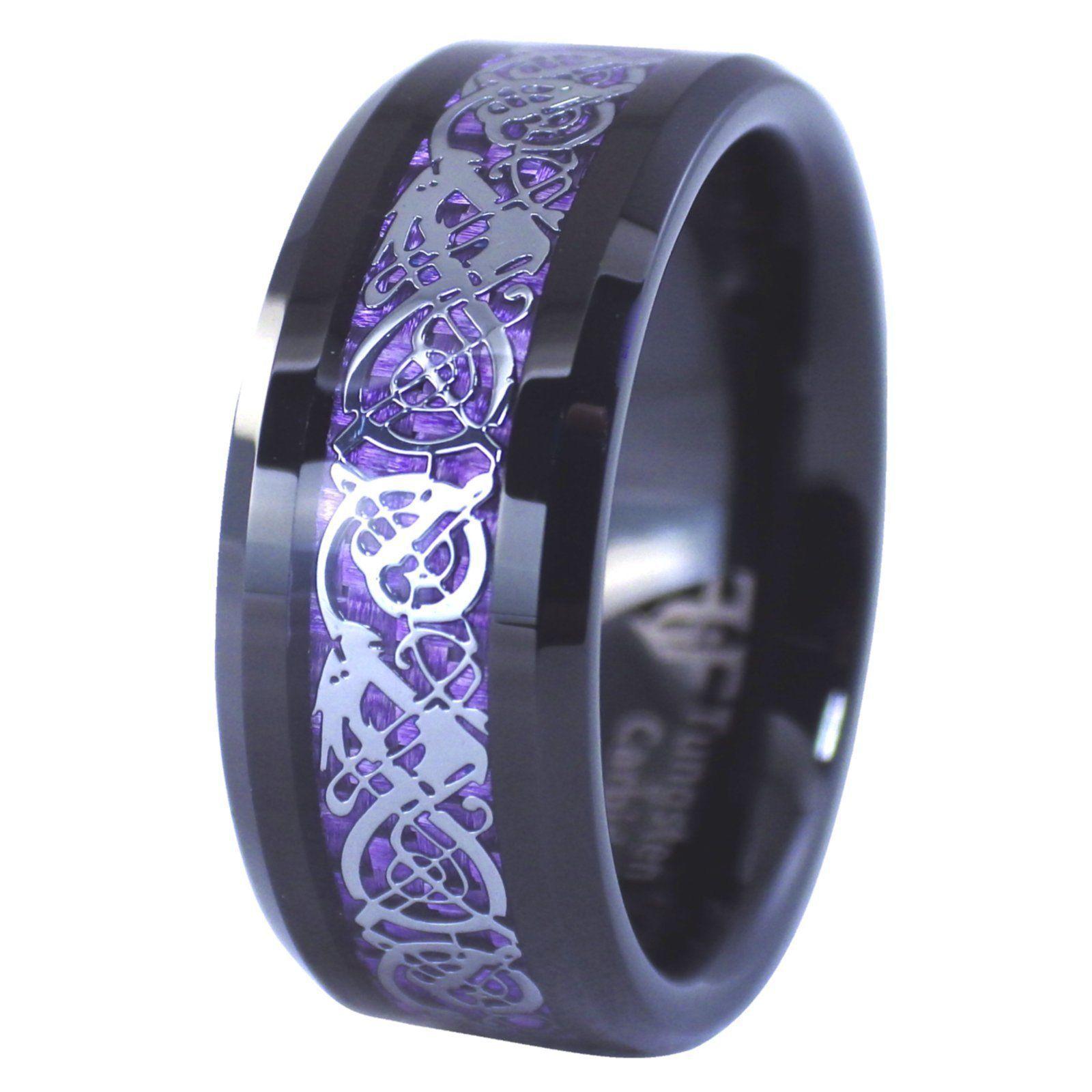 Geti Titanium Celtic Knot Engraved 6mm Wedding Ring