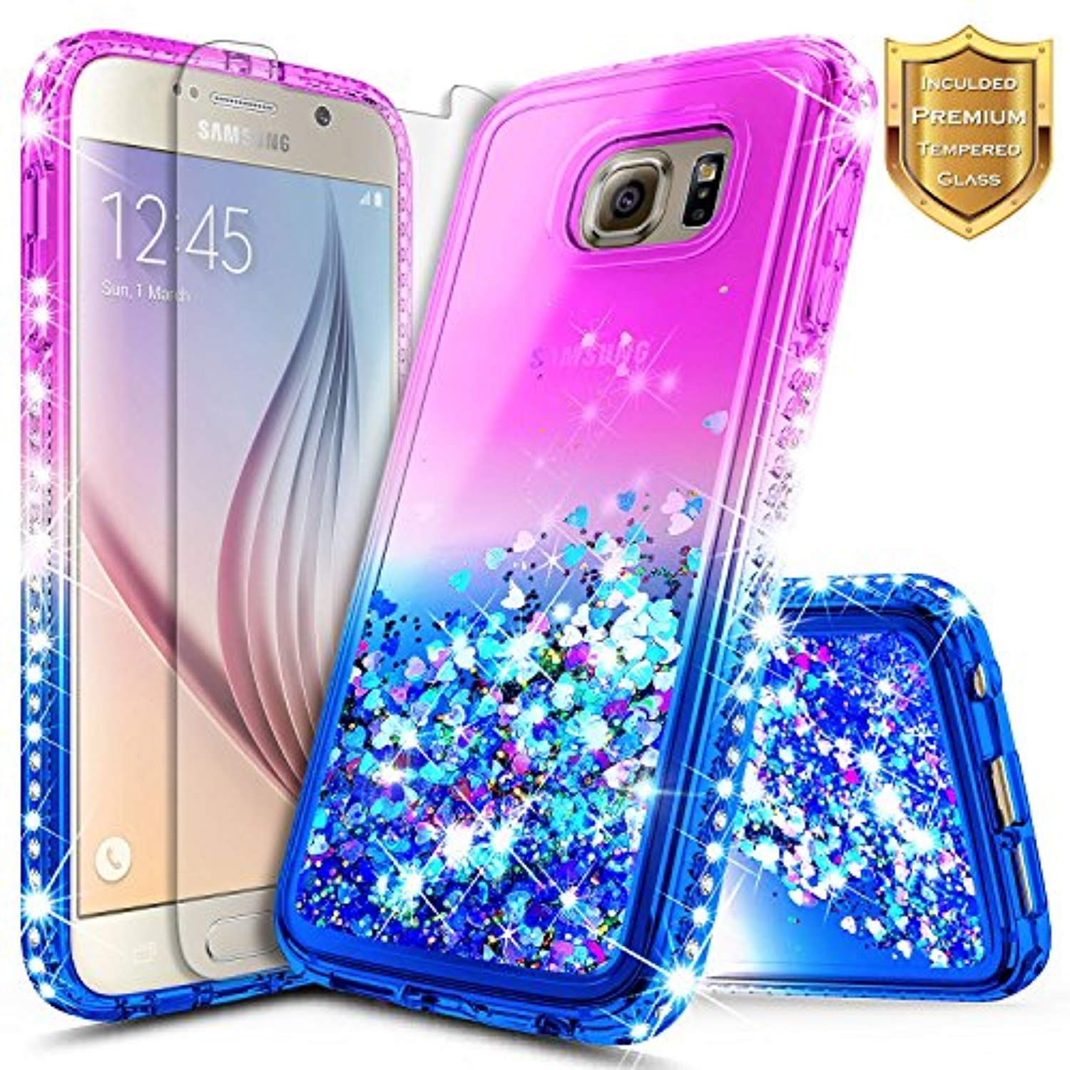 0b0a4b31adc Galaxy Note 5 Case w  Tempered Glass Screen Protector