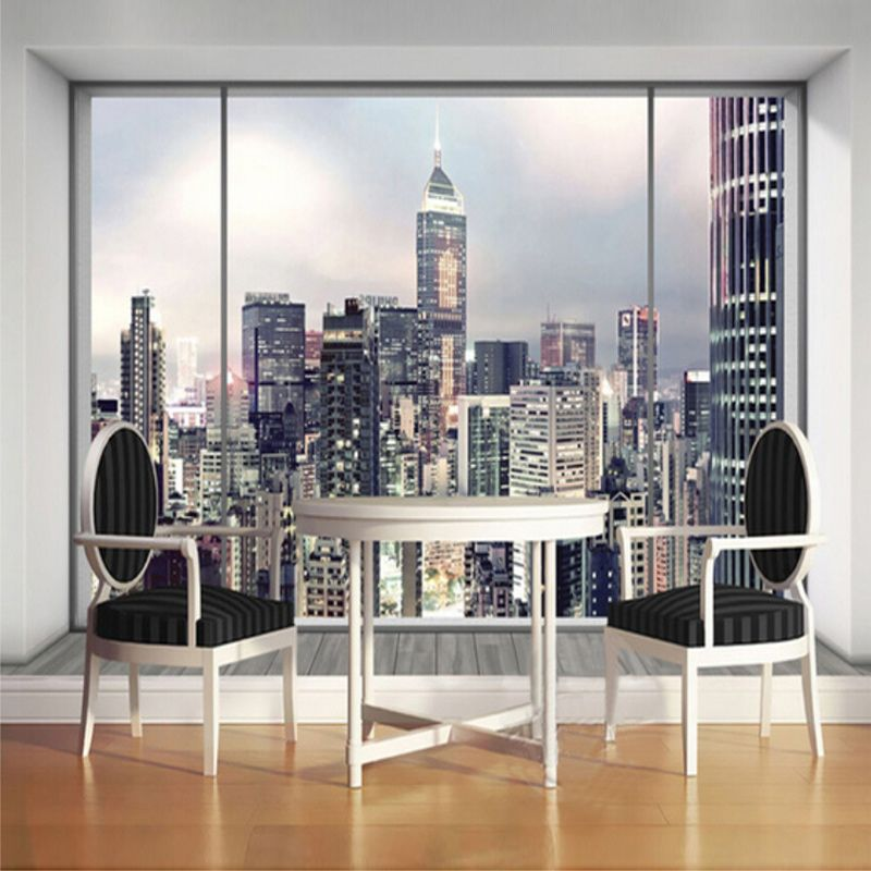 Cheap Landscape Wallpaper, Buy Quality Custom Mural Directly From China  Large Wall Mural Suppliers: Beibehang Custom Mural 3D Window City Landscape  ...