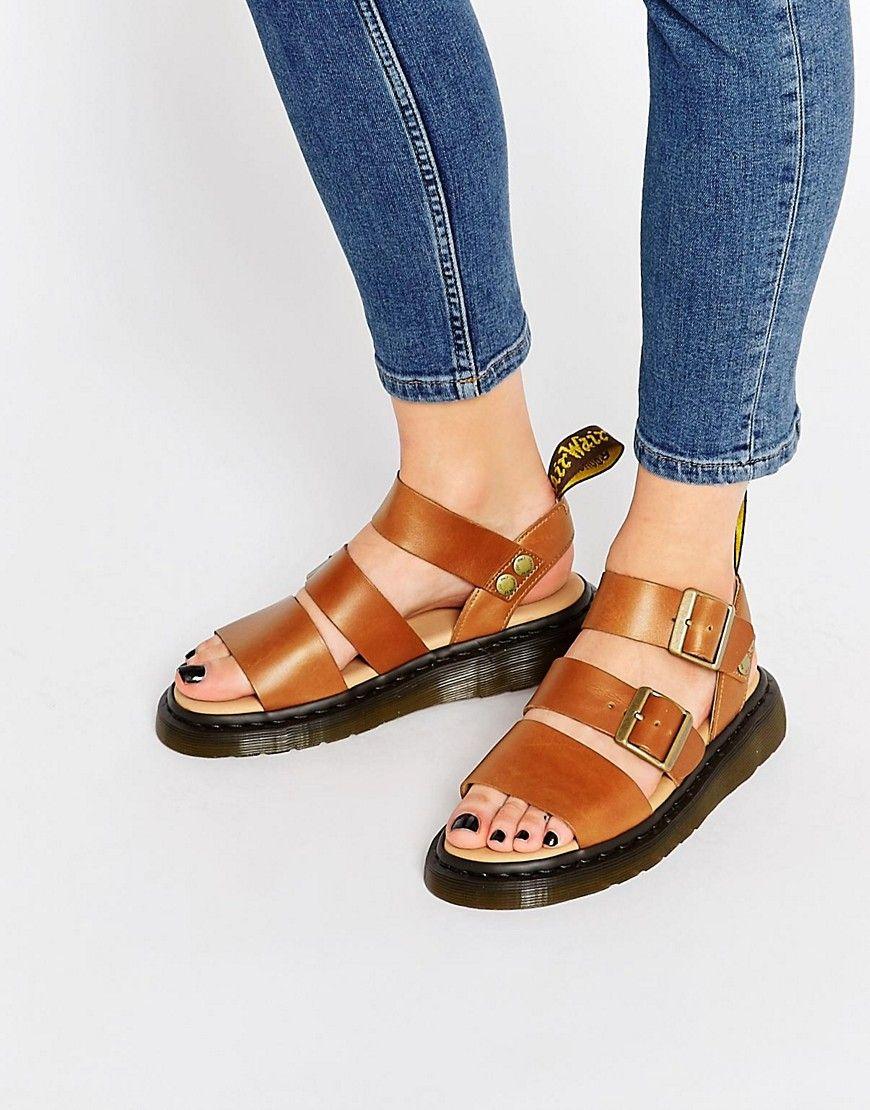 Secure Shopping Women Dr Martens Gryphon Strap Flat Sandals Offer