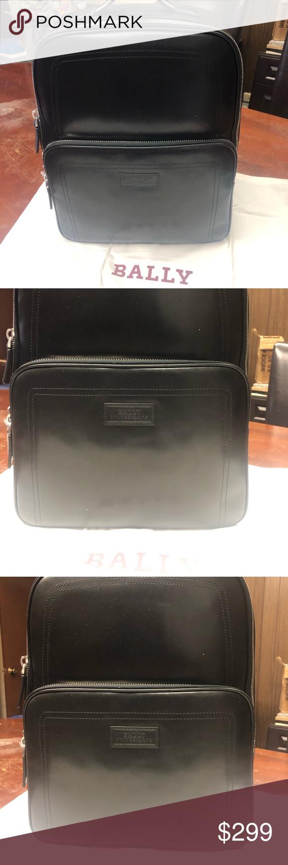 ed1ff7e991 Bally backpack Leather classic backpack Bally Bags Backpacks
