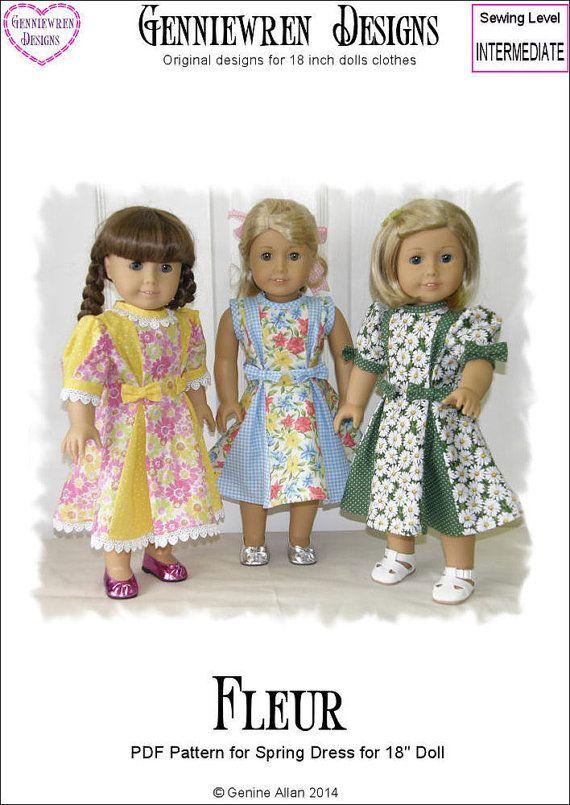Pixie Faire Genniewren Designs Fleur Spring Dress Doll Clothes ...