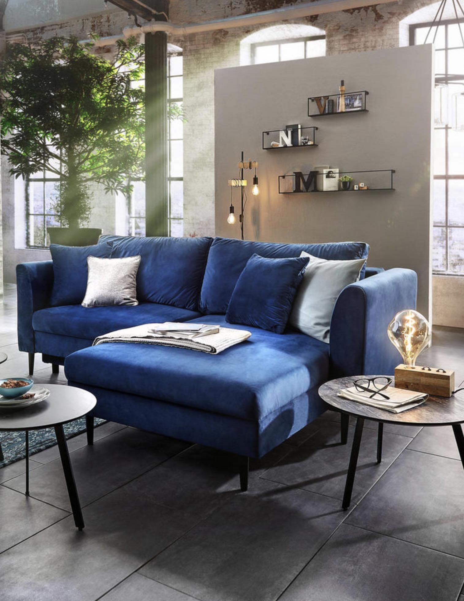 Wohnlandschaft In Textil Blau Wohnzimmer In 2019 Wohnen Haus