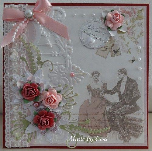 Voorbeeldkaart - 56 jaar getrouwd - Categorie: Scrapkaarten - Hobbyjournaal uw hobby website