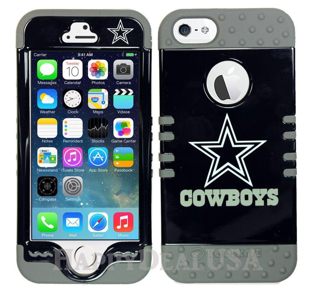 NFL Dallas Cowboys Cover w/Gray Silicone Hybrid Case for