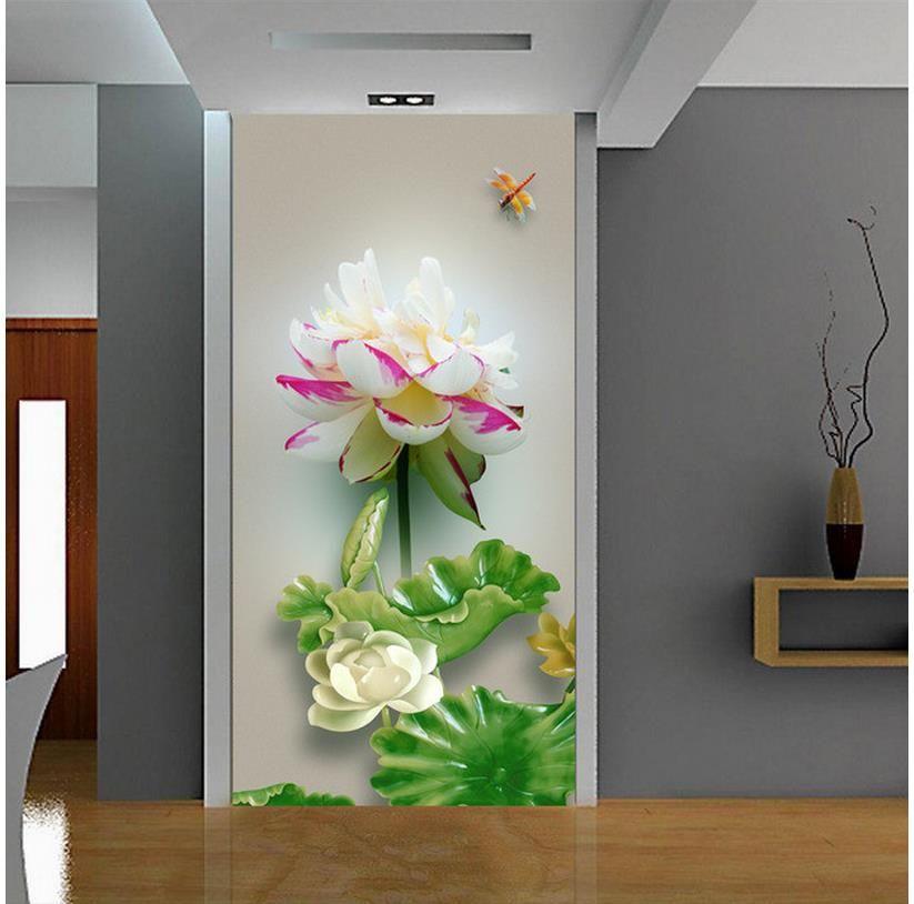 Cheap Jardín de Flores de papel tapiz para paredes rollo Soporte 3D ...