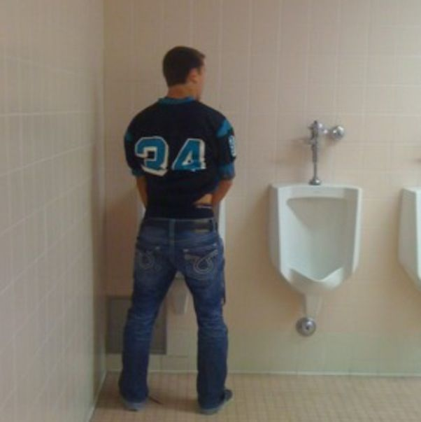 Solo Guy at the Urinal