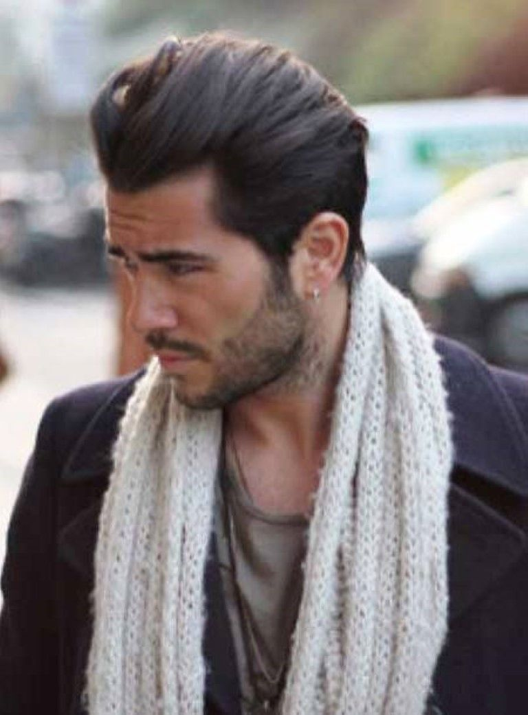 Relaxed Pompadour Hairstyle 2014 Mens Haircuts 2014 Coiffure Homme Coiffure Pompadour