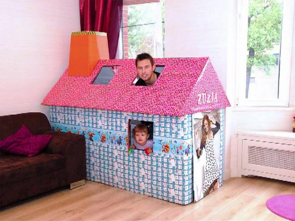 C mo hacer una casita de cart n hacer bricolaje es - Hacer bricolaje en casa ...
