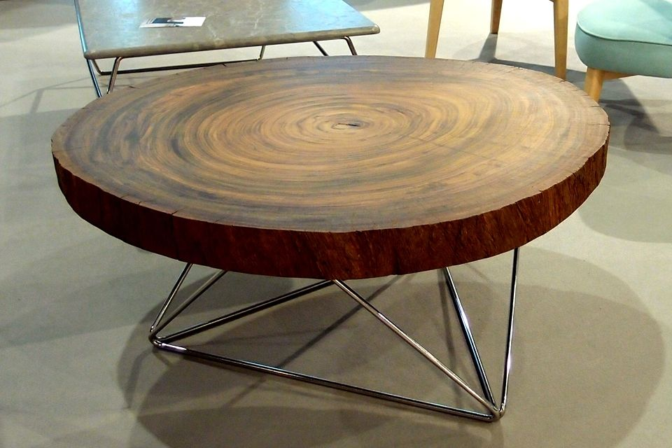 Bolacha mesa madeira maci a - Mesita auxiliar sofa ...