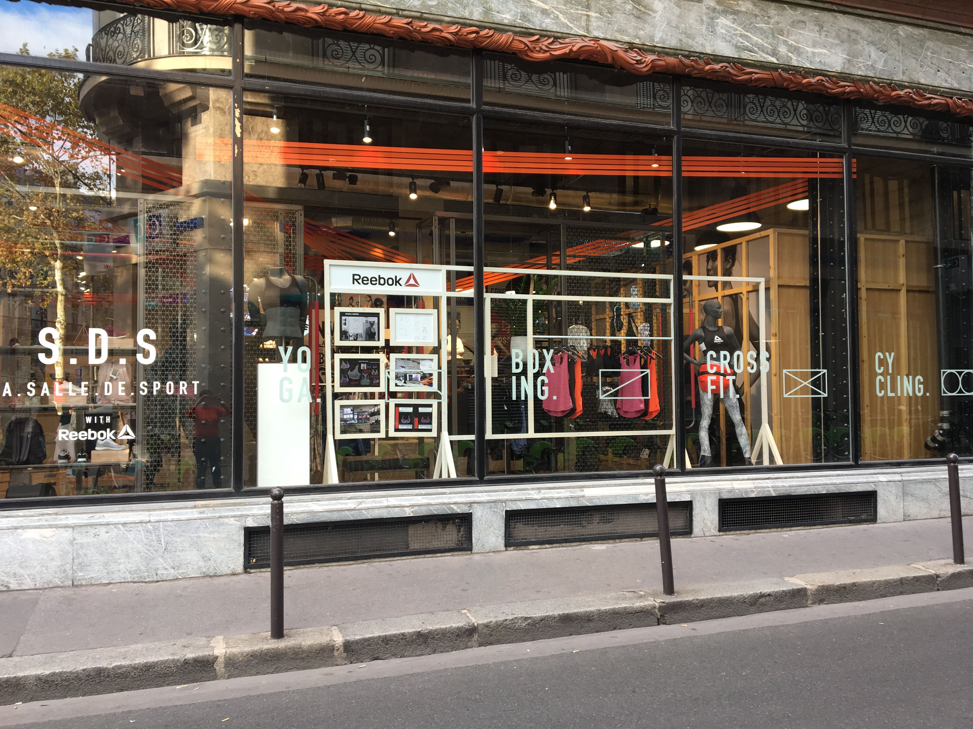VM refresh at the Reebok store in La Salle de Sport Paris