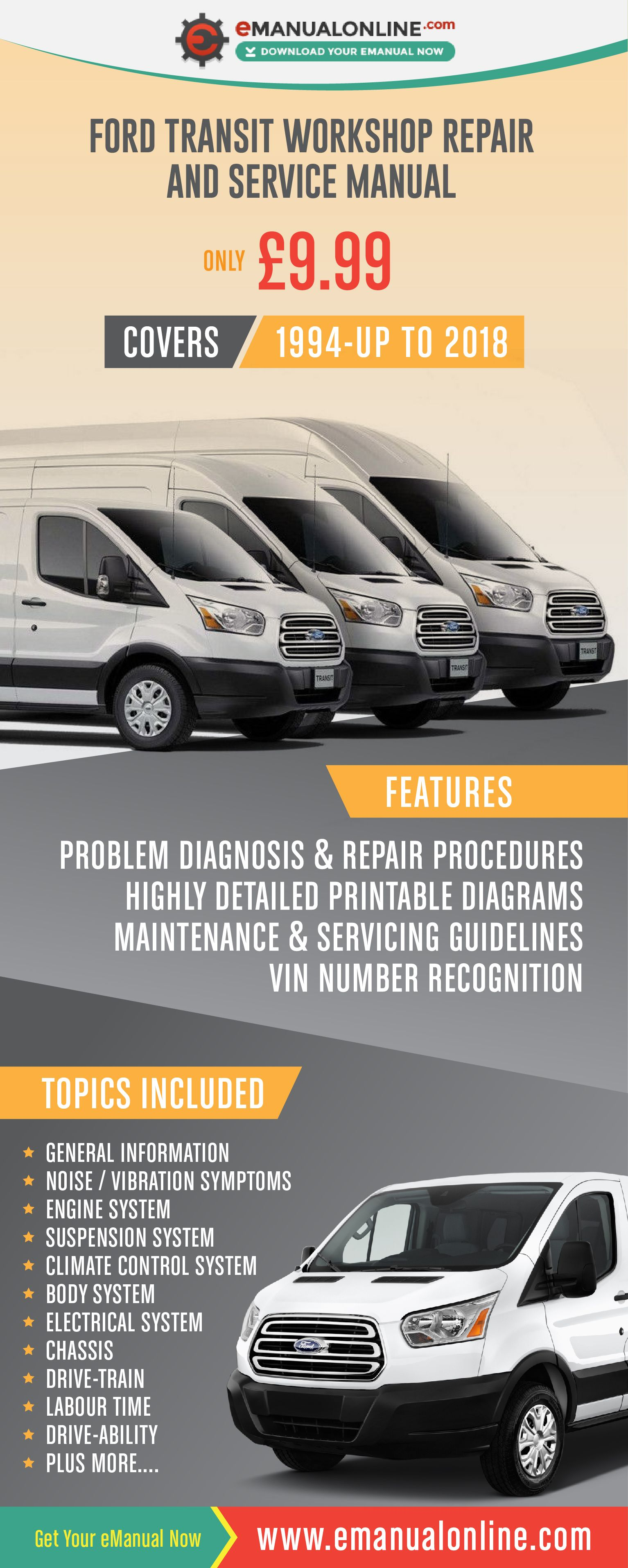 Ford Transit Workshop Repair And Service Manual This workshop manual  contains comprehensive data on repair procedures, diagnostic procedures,  servicing and ...