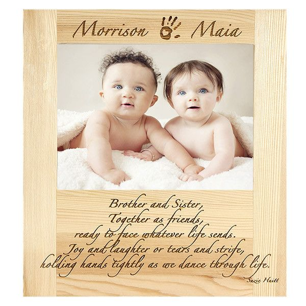 Personalized Wood Engraved Brother and Sister Frame | Home & Family ...
