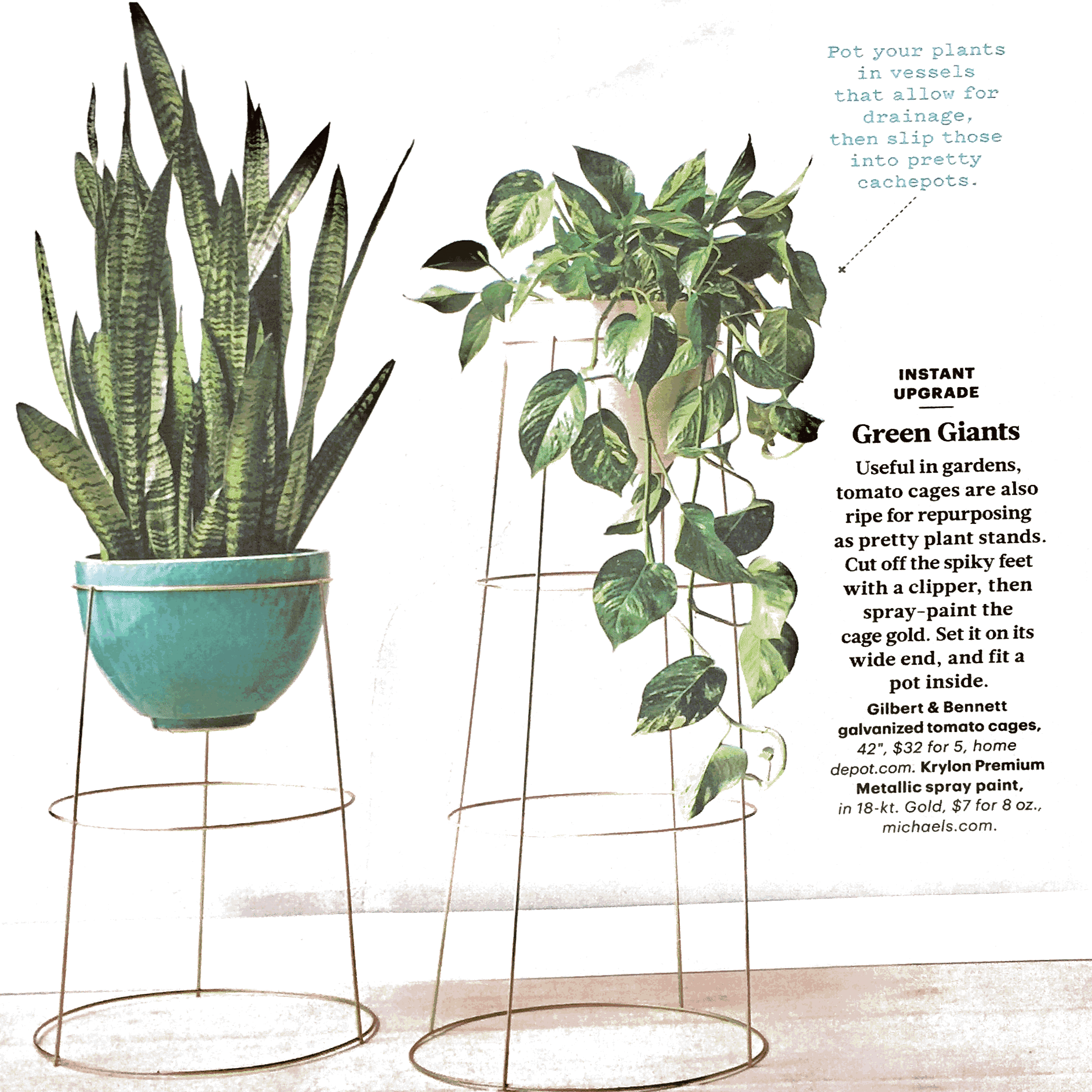 diy indoor planter stand | home_inspire | vintage garden