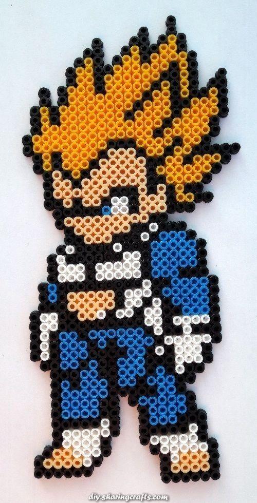Dragon Ball Super Saiyan Goku Perler Beads By