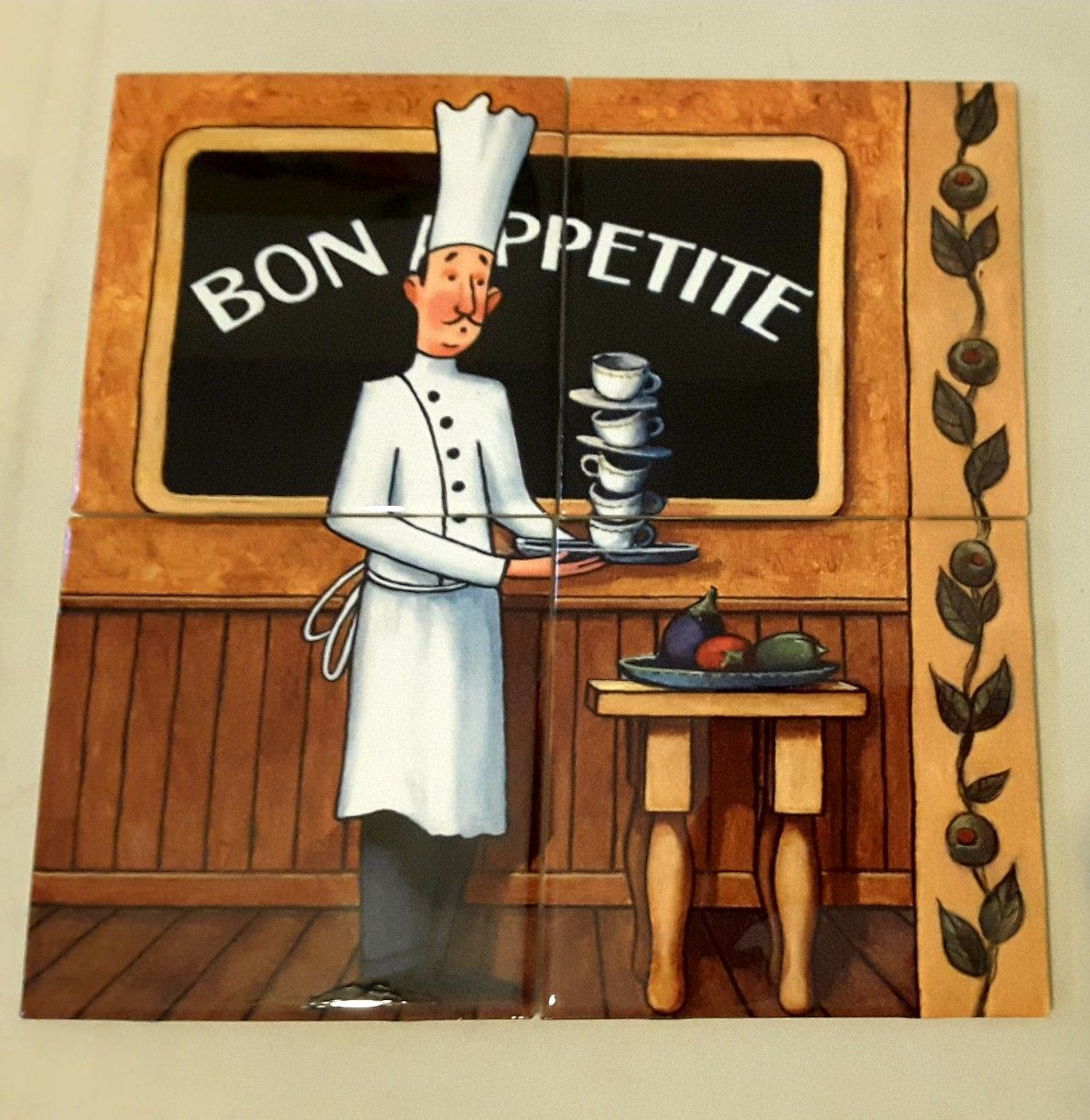 Bog Appetite Tile Mural On 15 2cm Tiles At 64 Wwwtilemuralstore Co Uk Tilemurals Kitchentiles Chefs Bistro Cafes Tile Murals Wall Art Decorative Tile