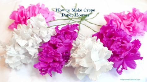 Easy diy crepe paper flowers they are beautiful flowers diy corner how to make easy diy crepe paper flowers easy paper flowers mightylinksfo