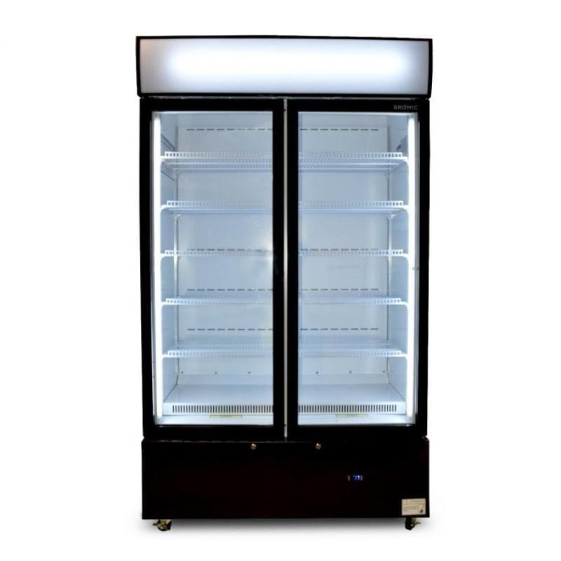 Bromic 960l Casette Flat Glass Door Led Display Chiller Glass Door Floating Glass Shelves Glass