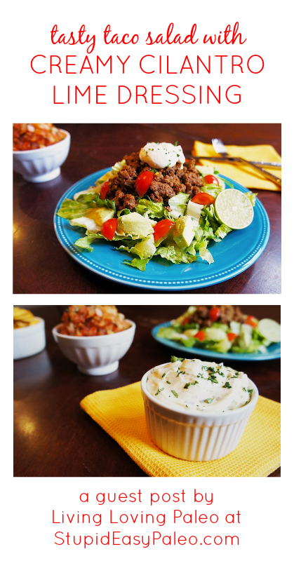 Paleo Taco Salad Recipe (Gluten-Free, Whole30 #tacosalad