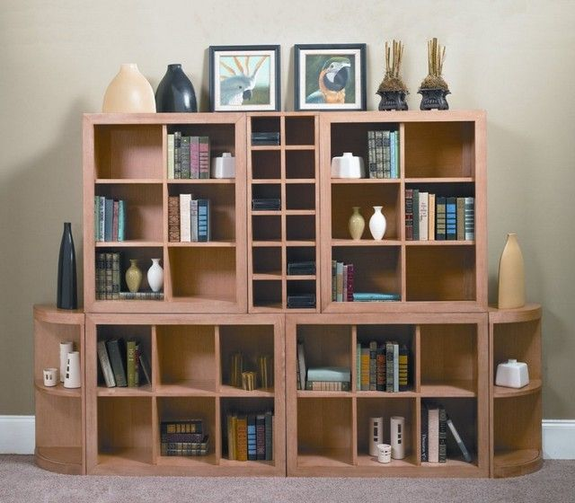 muebles salon idea estanteria libros libros
