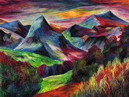 Oil Pastel Mountain Landscape Oil Pastel Paintings Oil Pastel Drawings Oil Pastel Art