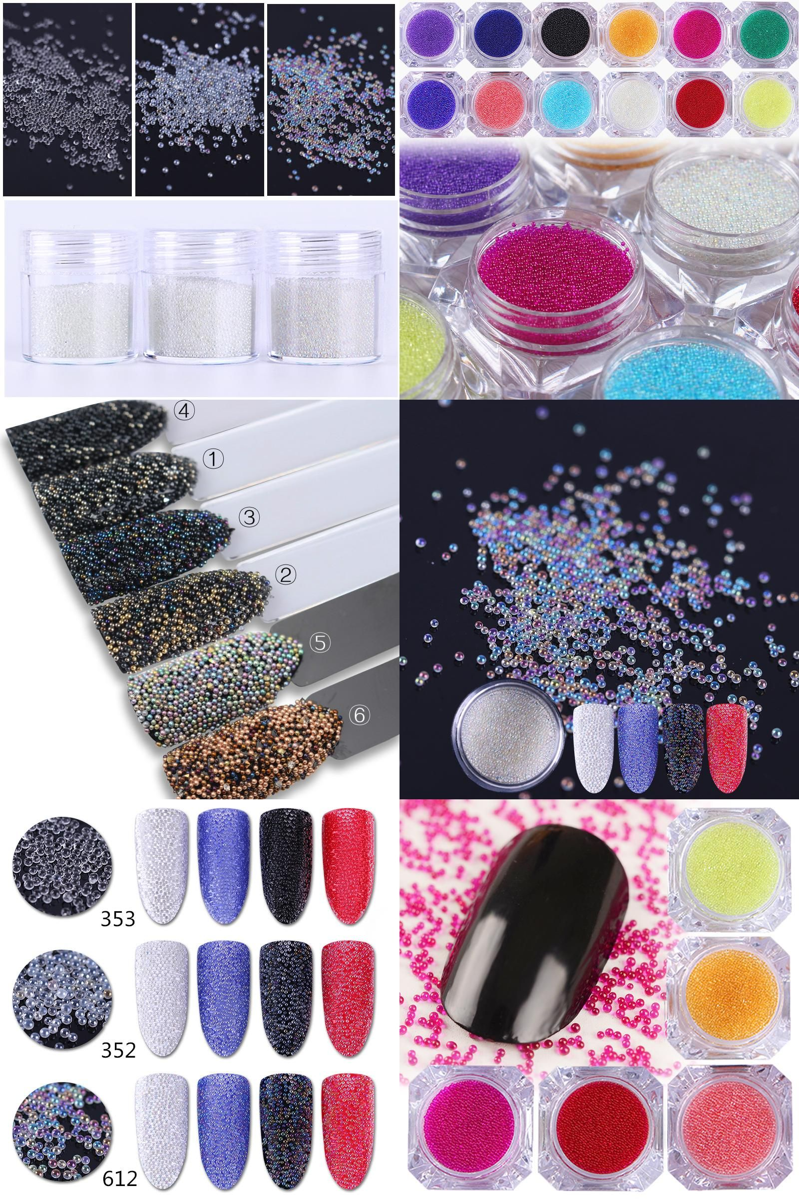 Visit to Buy] AB Caviar Beads Nail Glitter Decoration Micro Pearl ...
